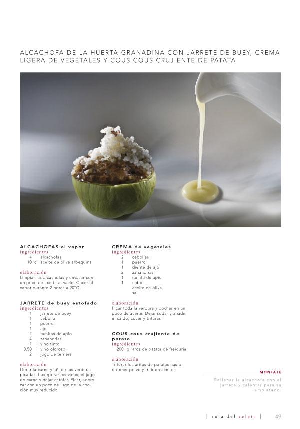 receta de alcachofa con jarrete de buey