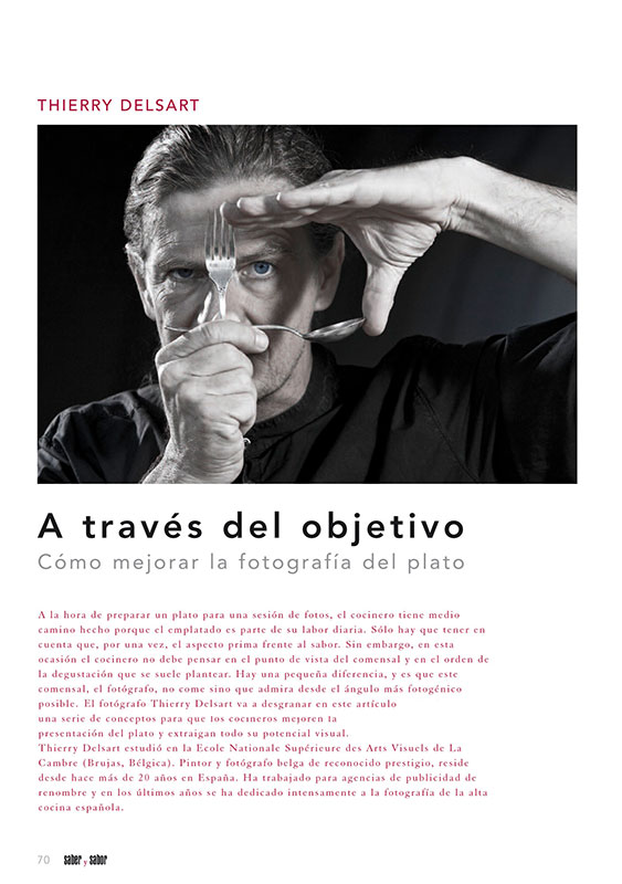 Página de revista con artículo de thierry delsart