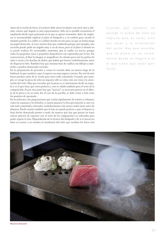 Revista con artículo sobre foto culinaria p1