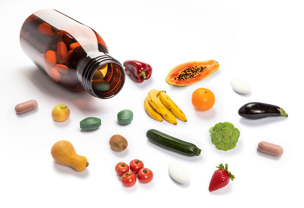 Bote de complementos alimenticios
